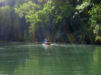 Canoing on the Buffalo River