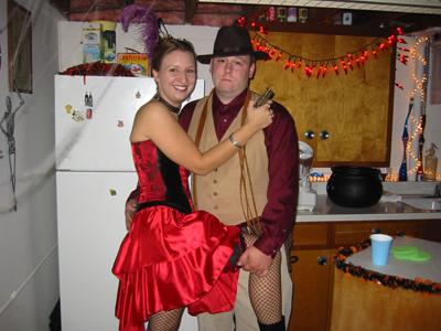 Halloween 2003 - Cowboy & Saloon Girl